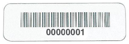 Stickers met barcode van zeer bestendig aluminium