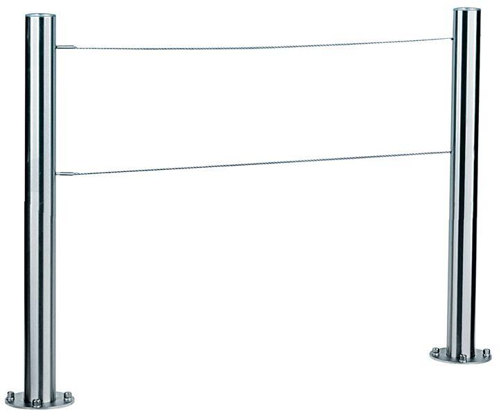 Hekken met stalen kabels, met of zonder reling