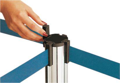 Afzetpaal van roestvrij staal met lint, kleur naar keuze