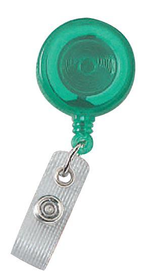 Badgehouder met riembevestiging en oprolmechanisme