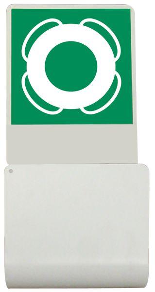 Reddingsboei ophangbeugel met pictogram