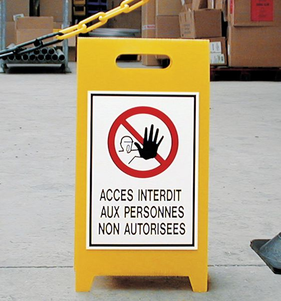 Personaliseerbaar tweezijdig waarschuwingsbord