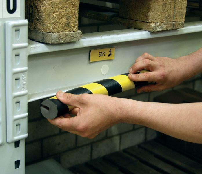Afgerond u-profiel van schuim Optichoc, voor randen van 19 mm