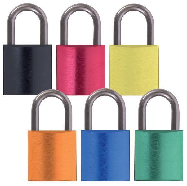 Aluminium hangsloten met identieke of verschillende sleutels
