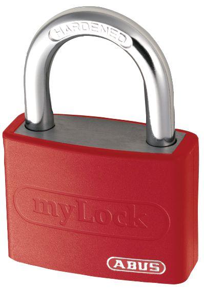 Beschrijfbaar, gekleurd hangslot met 2 sleutels