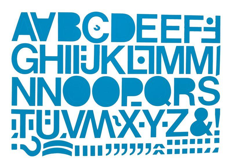 Set van gekleurde stickers met cijfers of letters