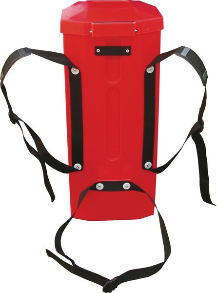 Draagbare brandblusserkoffer met verstelbare riemen