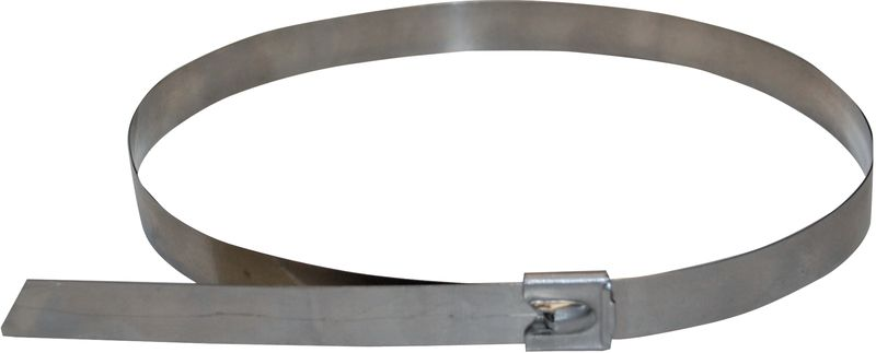 Inox spanband voor houder voor leidingmerkers
