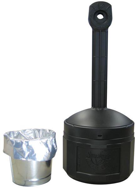 Vlamdovende asbak met capaciteit van 6800 peuken, op voet