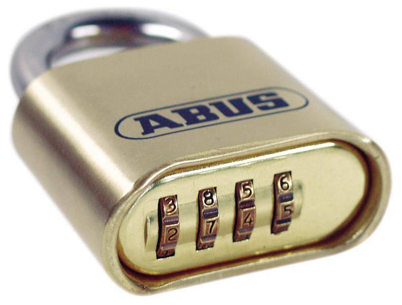 ABUS hangslot van messing met cijferslot