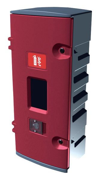 Opbergkast met plastic slot voor brandblusser van 5 kg