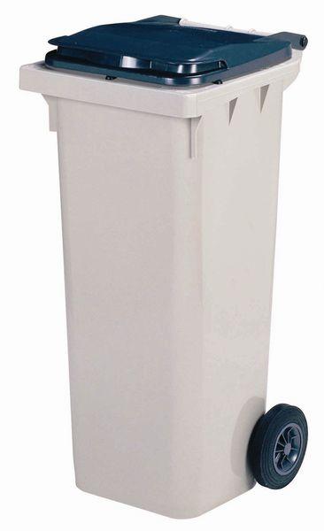 Sorteer vuilnisbak met gekleurd deksel en wieltjes