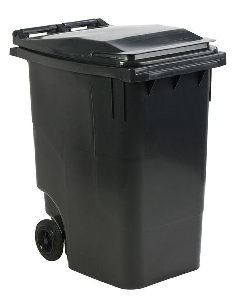 Gekleurde afvalcontainer voor een lediging langs voor- of zijkant