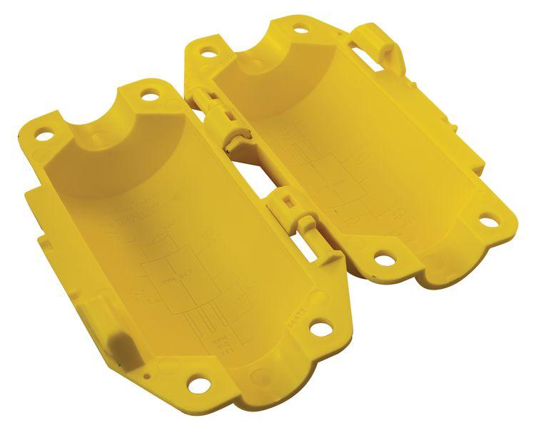 Isolerend vergrendelingssysteem voor lockout industriële connectoren