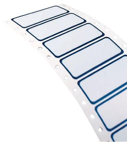 Personaliseerbare etiketten van gemetalliseerd polyester voor matrixprinter