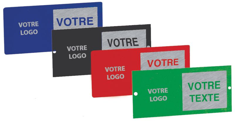 Personaliseerbare bedrijfsplaatjes met tekst en logo