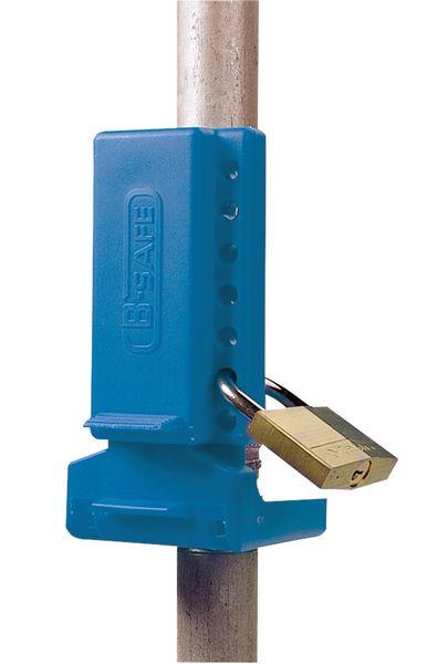 Tweedelig vergrendelingssysteem voor lockout kogelkranen