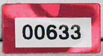 Personaliseerbare eigendomsetiketten DuraGuard® van gemetalliseerd polyester met specifieke afmetingen