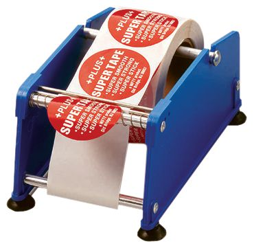 Plastic stickerdispenser met zuignappen