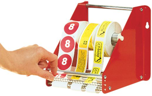 Metalen stickerdispenser