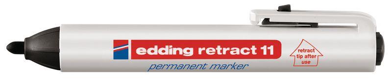 Permanent marker Edding 11 met drukmechanisme en ronde punt - 1.5 mm