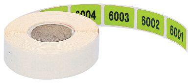 Stickers met nummering, van papier
