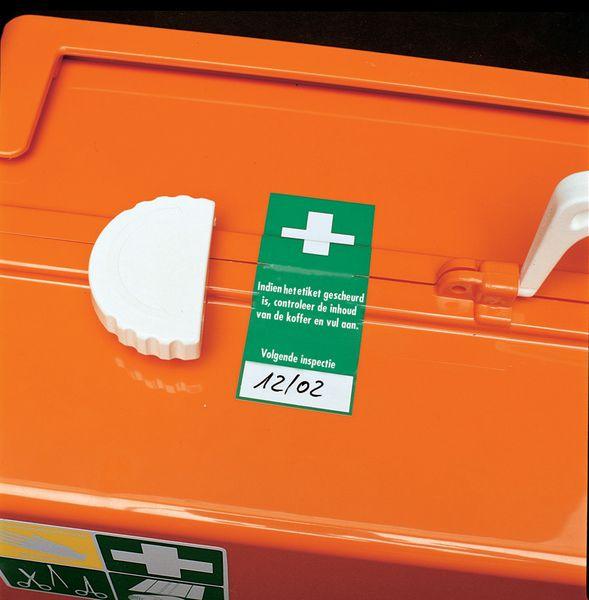 EHBO-stickers voor verzegeling van EHBO-kit