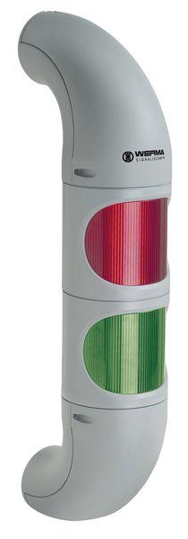 Twee ledlampen op een zuil voor machines