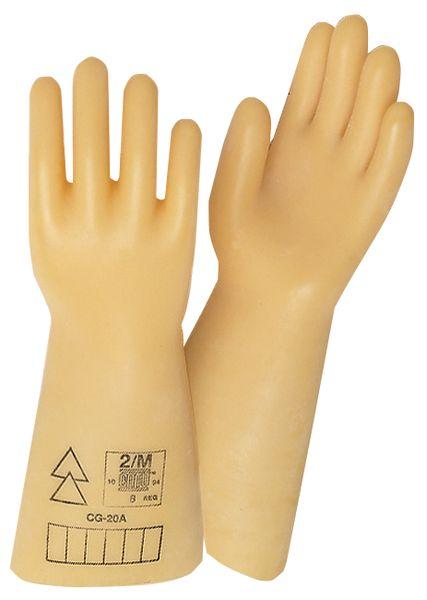 Isolerende handschoenen van latex, met diëlektrische laag