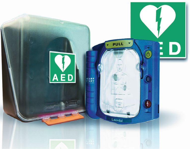 Kit HS1 AED defibrillator, signalering en kastje