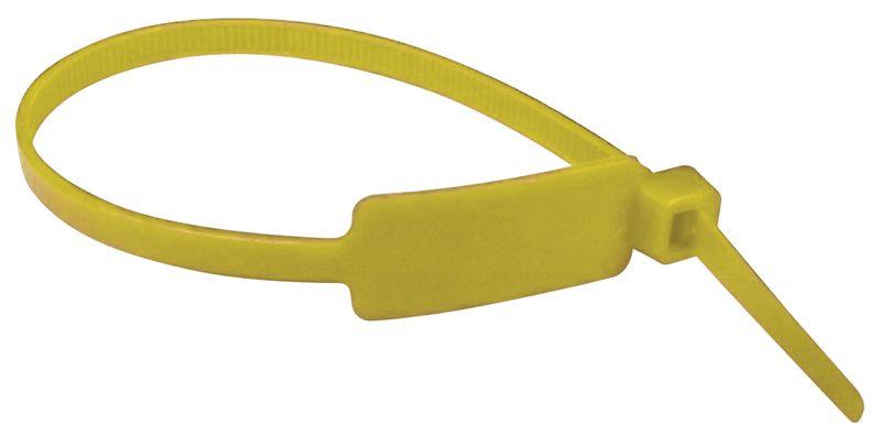 Kunststof kabelbinders met beschrijfbaar label