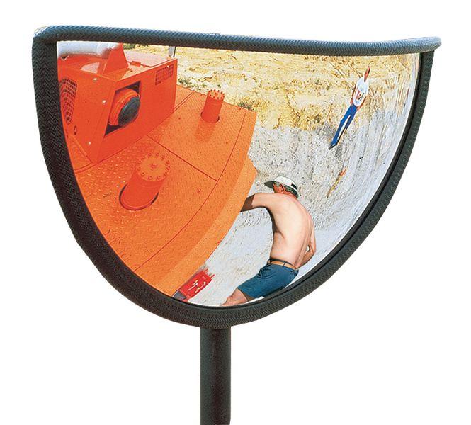 Onvervormbare veiligheidsspiegel voor bouwwerf, 180° zicht