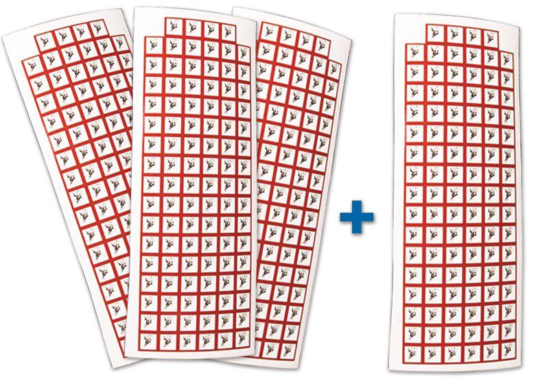 """Set stickers met CLP-pictogrammen - 3+1 vellen """"Ontplofbare stoffen"""" - GHS01"""