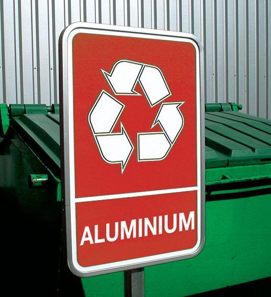 Personaliseerbare borden voor afvalscheiding