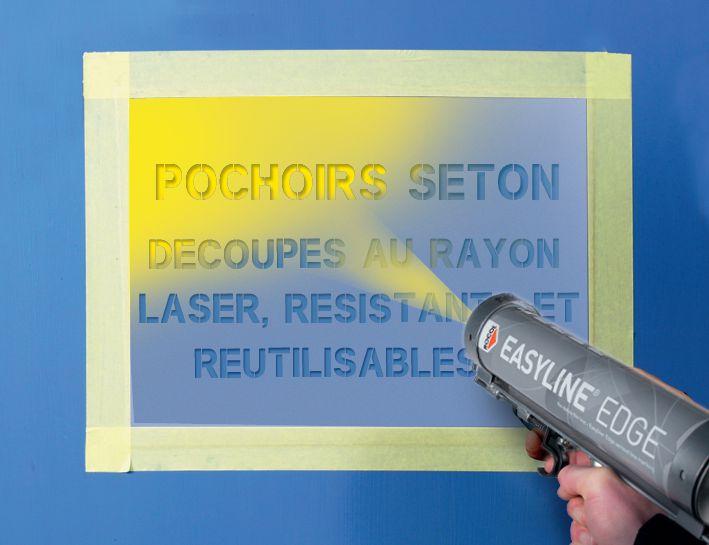 Personaliseerbaar sjabloon van PVC voor muur- en grondmarkering