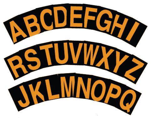 Stickers met reflecterende letters of cijfers