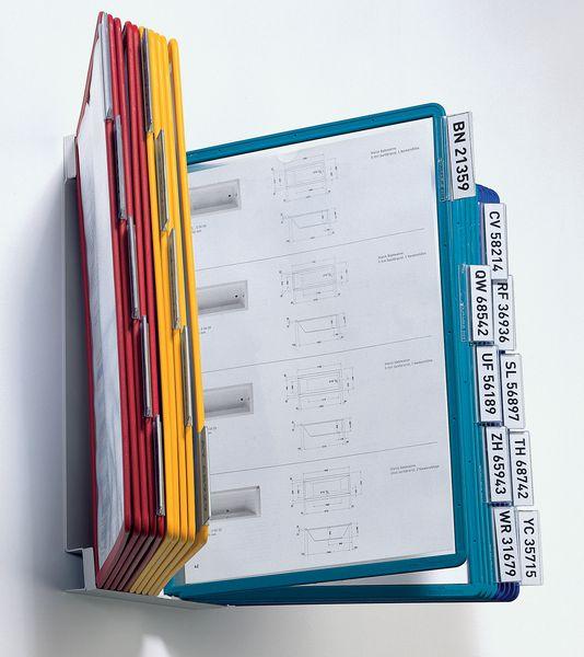 Metalen muursteunen voor documenthouders met A4-hoesjes