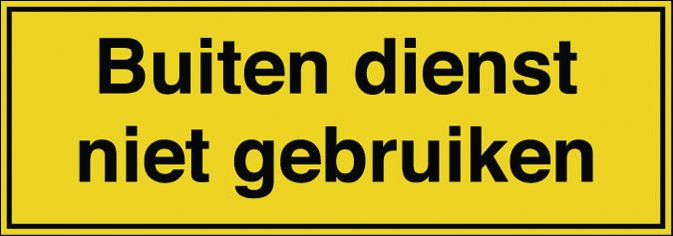 Rechthoekige borden en stickers elektrisch gevaar - Buiten dienst niet gebruiken