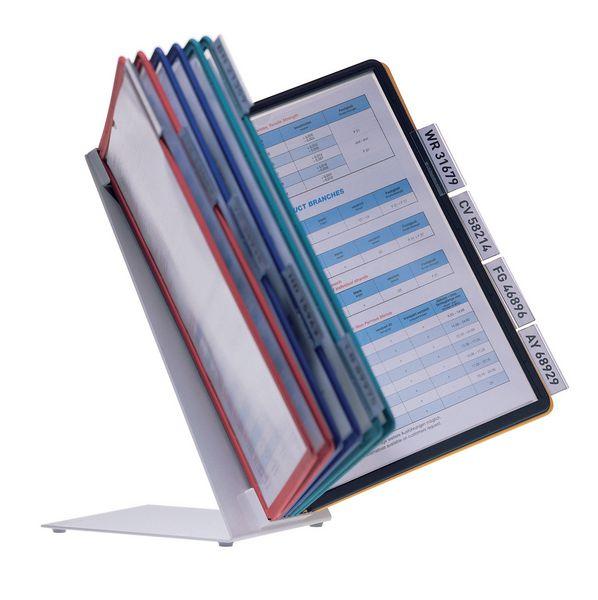Documenthouder met A4-hoesjes voor tafelpresentatie