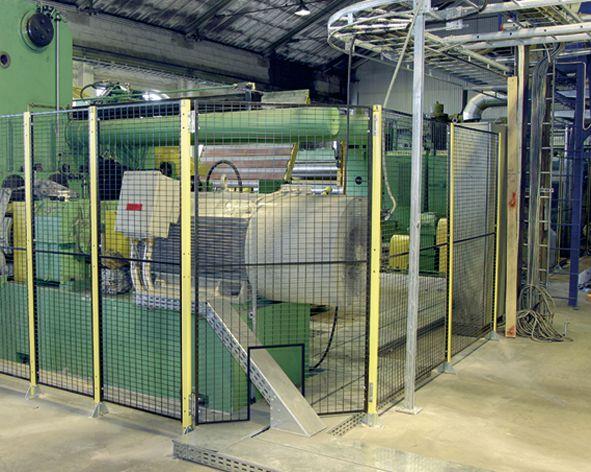 Gaaspanelen voor machine afscherming, verschillende breedtes