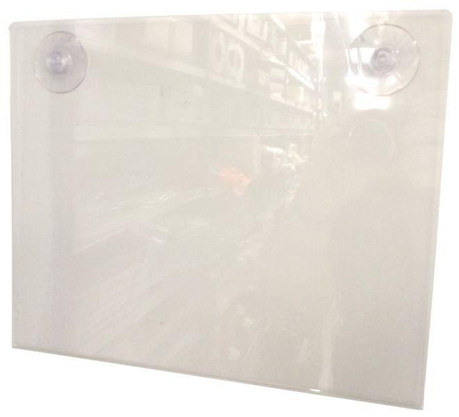 Affichehouders van plexiglas, met zuignappen