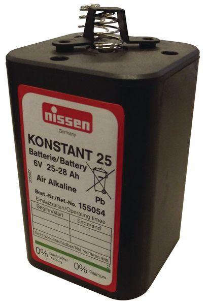 Batterij van 6 V voor verlichting op de werf