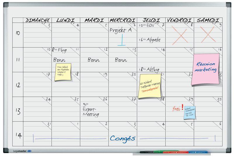 Magnetische planborden voor weekplanning, voor 5 personen