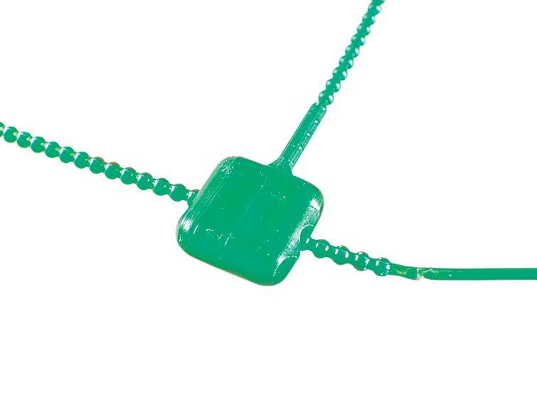 Zegeldraad van plastic met zegelloodje van plastic