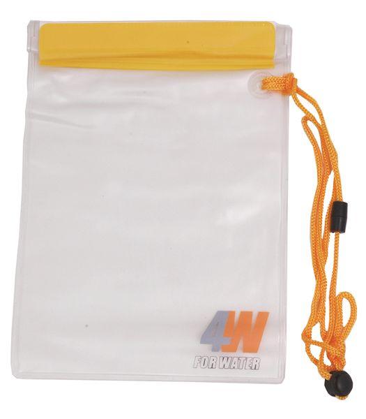 Waterdichte, plastic zak met ritssluiting en koord