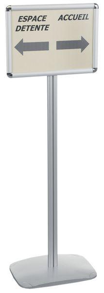 Display op voet voor A4- en A3-documenten, horizontale of verticale presentatie