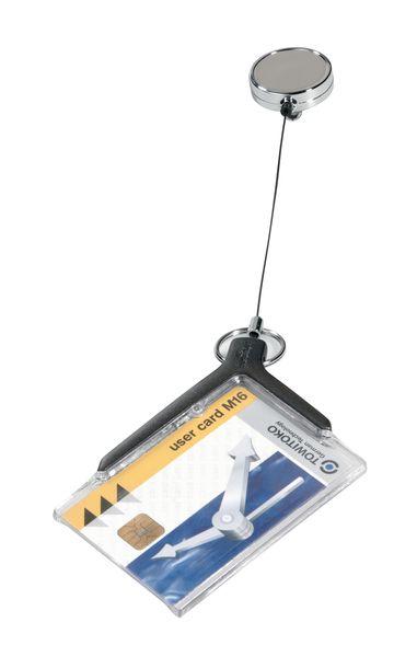 Badgehouder of veiligheidskaart met oprolsysteem
