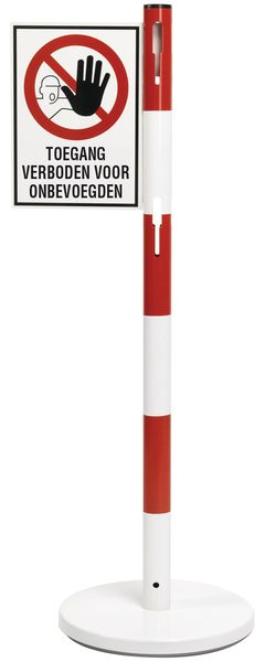 Haakse verbodsborden voor stalen paal - Verboden toegang voor onbevoegden