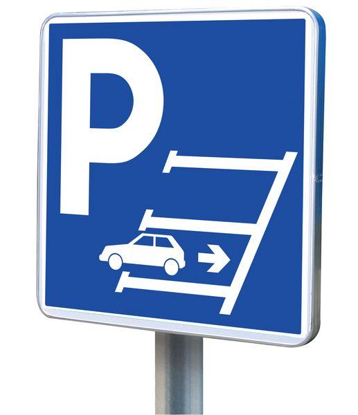 """Aluminium parkeerborden """"Gelieve in achteruit te parkeren"""""""