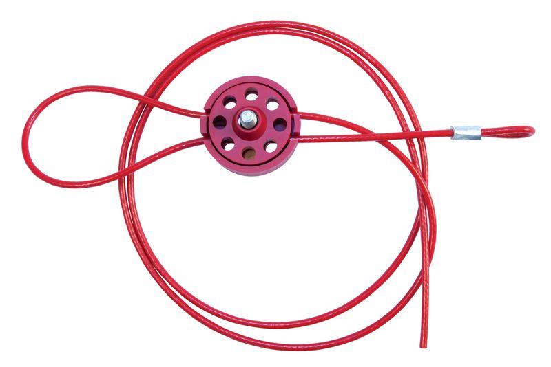Licht en compact vergrendelingssysteem met kabel voor lockout